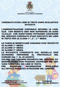 MANIFESTO COMODATO D'USO LIBRI DI TESTO